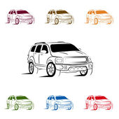 Suv silhouette for your design — Stock Vector