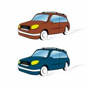 Car illustration on a white background — Stock Vector