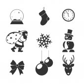 Icons on a subject Christmas for your design — Stock Vector