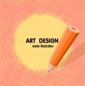 Shading pencil art design — Stock Vector