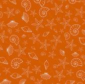 Sea pattern texture from cockleshells — Vector de stock