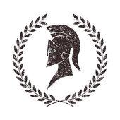 Slitna krigare ikonen i grunge stil — Stockvektor