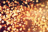 Festive Background With Natural Bokeh And Bright Golden Lights. Vintage Magic Background With Color — Fotografia Stock
