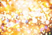 Festive Background With Natural Bokeh And Bright Golden Lights. Vintage Magic Background With Color — Stock Photo