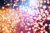 Doğal Bokeh ve parlak altın ışık şenlikli arka plan. Vintage sihirli arka plan rengi ile — Stok fotoğraf