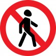 Постер, плакат: Icon prohibiting walking