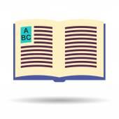 Libro logo vettoriale — Vettoriale Stock