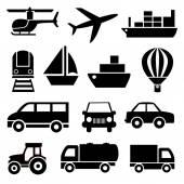 Set vektör ikonlar kamyon — Stok Vektör