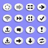 Set of Arrows  Buttons — 图库矢量图片