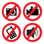 Set of icons forbidding — Stock Vector