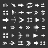 Set of Arrows on Buttons — Stockvector