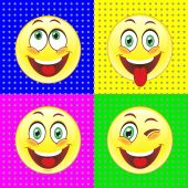 Smiles  depicting human emotions — Stock Vector