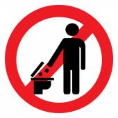 No toilet trash icon — Vector de stock