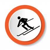 Ski icon — Stock Vector