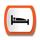 Vector sign with a picture of a bed — Stock Vector