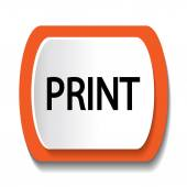Vector icon with the word PRINT — Stock Vector
