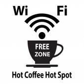 Wifi gratuito cybercafe poster — Vettoriale Stock