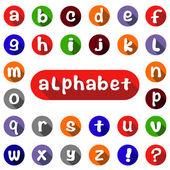 Anglická abeceda — Stock vektor