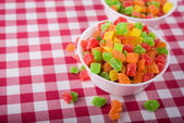Candied fruit in plate — Stock Photo