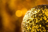 Golden new years background — Stock Photo