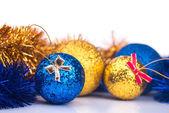 New years balls isolated — ストック写真