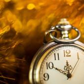 New 2015 year at clock — Stock Photo