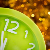 Christmas clock at twelve — Stock Photo