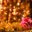 Close up of red christmas ball — Stock Photo #59692747