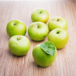 Fresh green apples — Stock Photo #61005615
