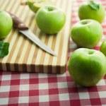 Organic green apples — Stock Photo #61005723