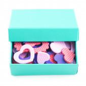 Heart symbols in box isolated — Stock Photo