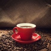 Red coffee cup — Stock Photo