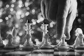 Man plays chess  — Stock Photo