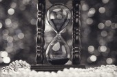 Merry Christmas clock background — Foto Stock