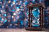 Wooden hourglass clock  — Foto Stock