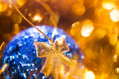 Closeup of christmas ball — Stock Photo