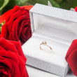 Red roses and ring — Foto de Stock   #63349475