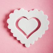 Closeup of white heart symbol — Stock Photo