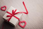 Jewelry red gift box — Stock Photo