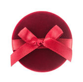 Caja de regalo roja para joyería — Foto de Stock