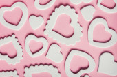 Hearts white shape — Stock Photo