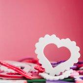 White heart symbol  — Foto Stock
