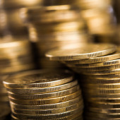 Image of gold coins — Stock Photo