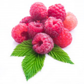 Closeup of fresh red raspberries — Stock Photo