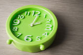 Big green clock — Stock Photo