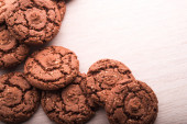 Brown baked cookies — Stock Photo