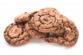 Chocolate brown cookies — Stock Photo