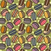 Macarons pattern — Stock Vector
