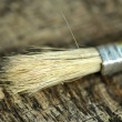 Paint brush on a old wooden background — Stock Photo #52424765