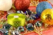Christmas ball, new year invitation card — Foto de Stock